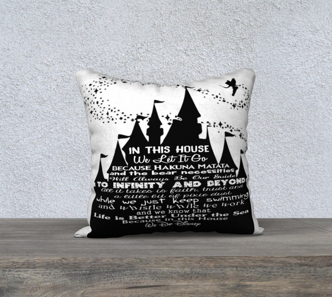 In this House Custom Color Pillow Cover Miniature #2