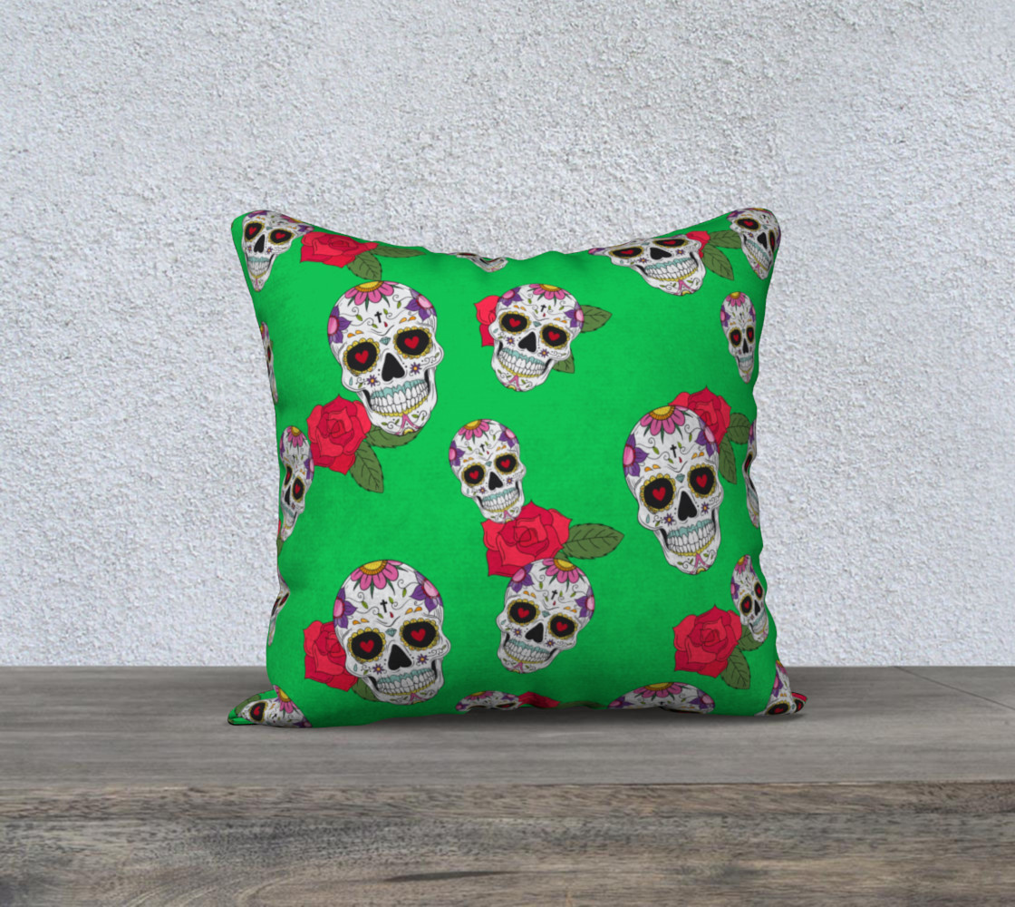 Sugar Skull Green Miniature #2