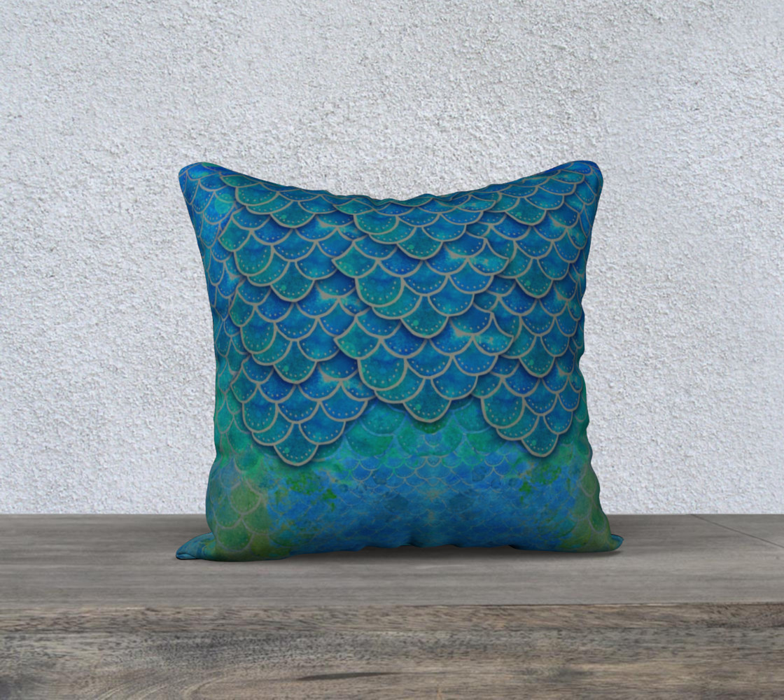 Mermaid Dragon Scales Pillow Cover preview #1