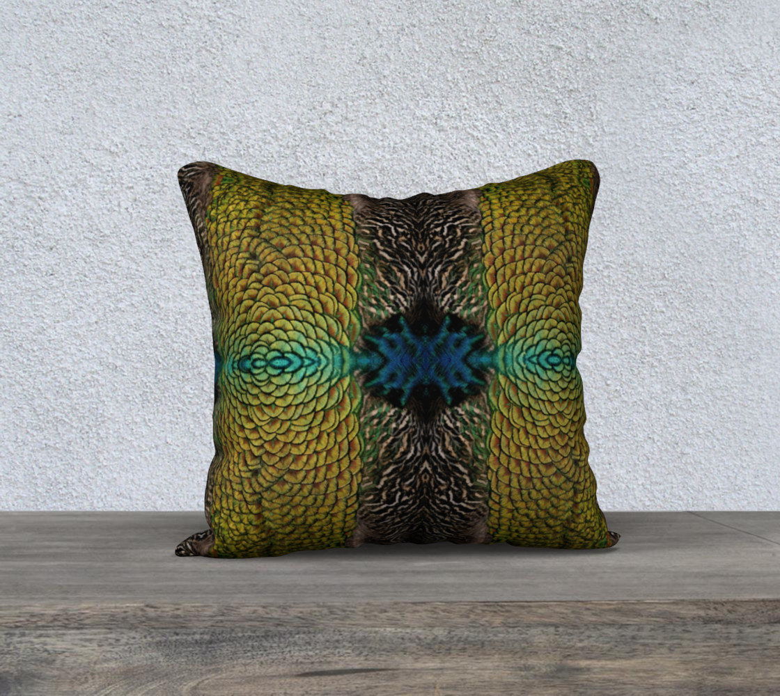 Peacock Feather Pillow preview #1