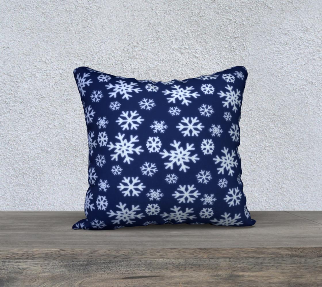 Aperçu de Snowflakes Pillow Cover #1
