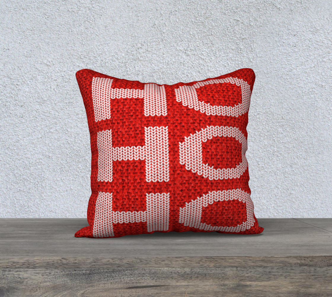 Aperçu de Ho Ho Ho Pillow Cover #1