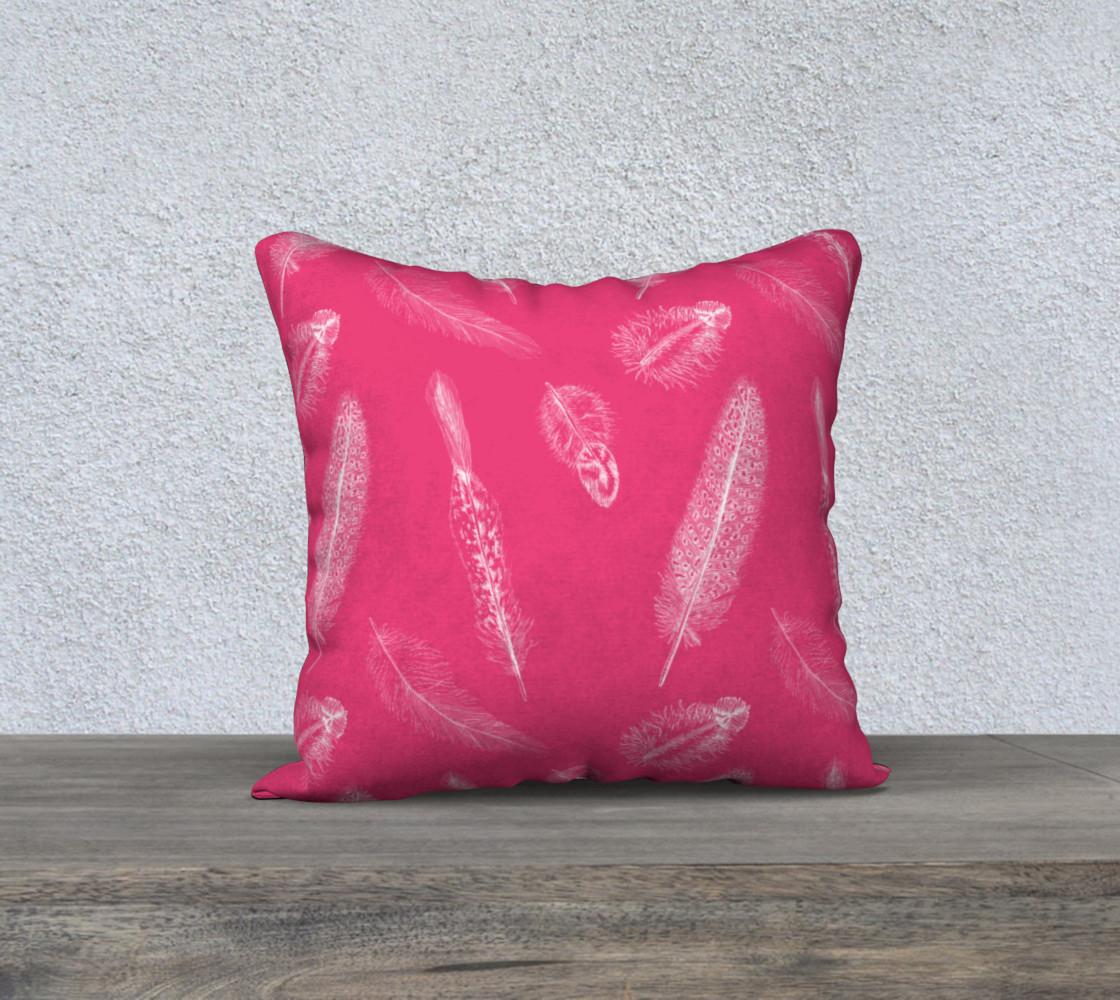 Aperçu de Feather Pattern Pink Pillow  #1