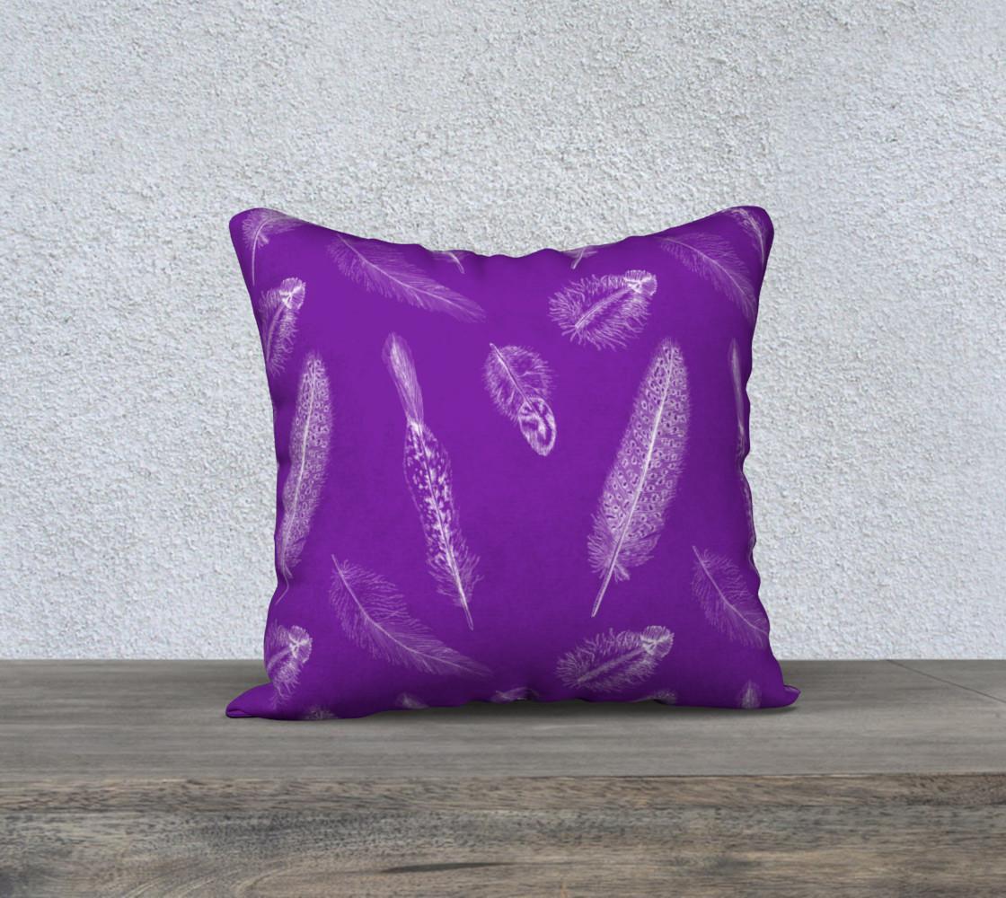 Aperçu de Feather Pattern Purple Pillow  #1