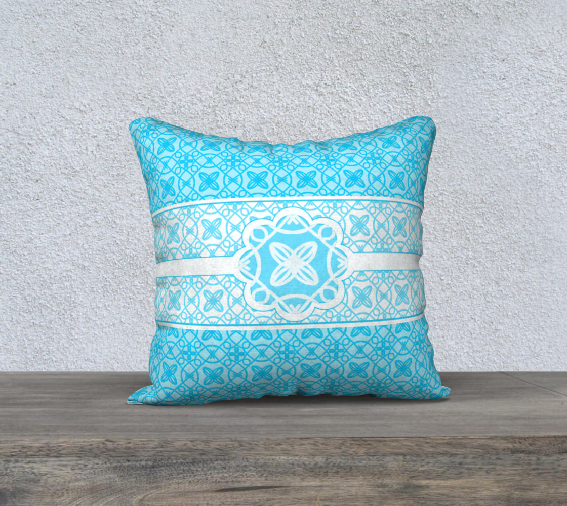 Teal and White Pattern preview #1
