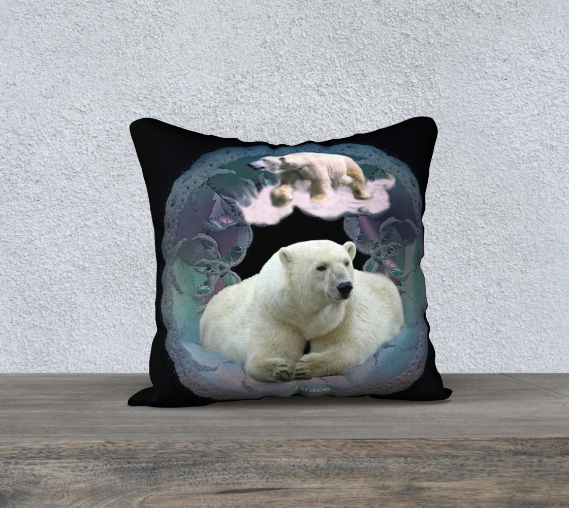 Polar Bear Pillow preview #1