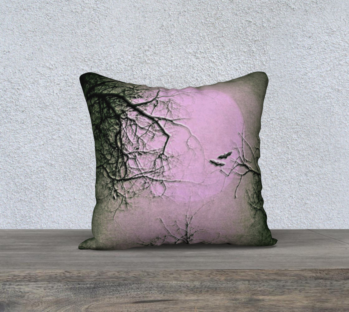 Pink and Black Night Sky Gothic Pillow preview #1