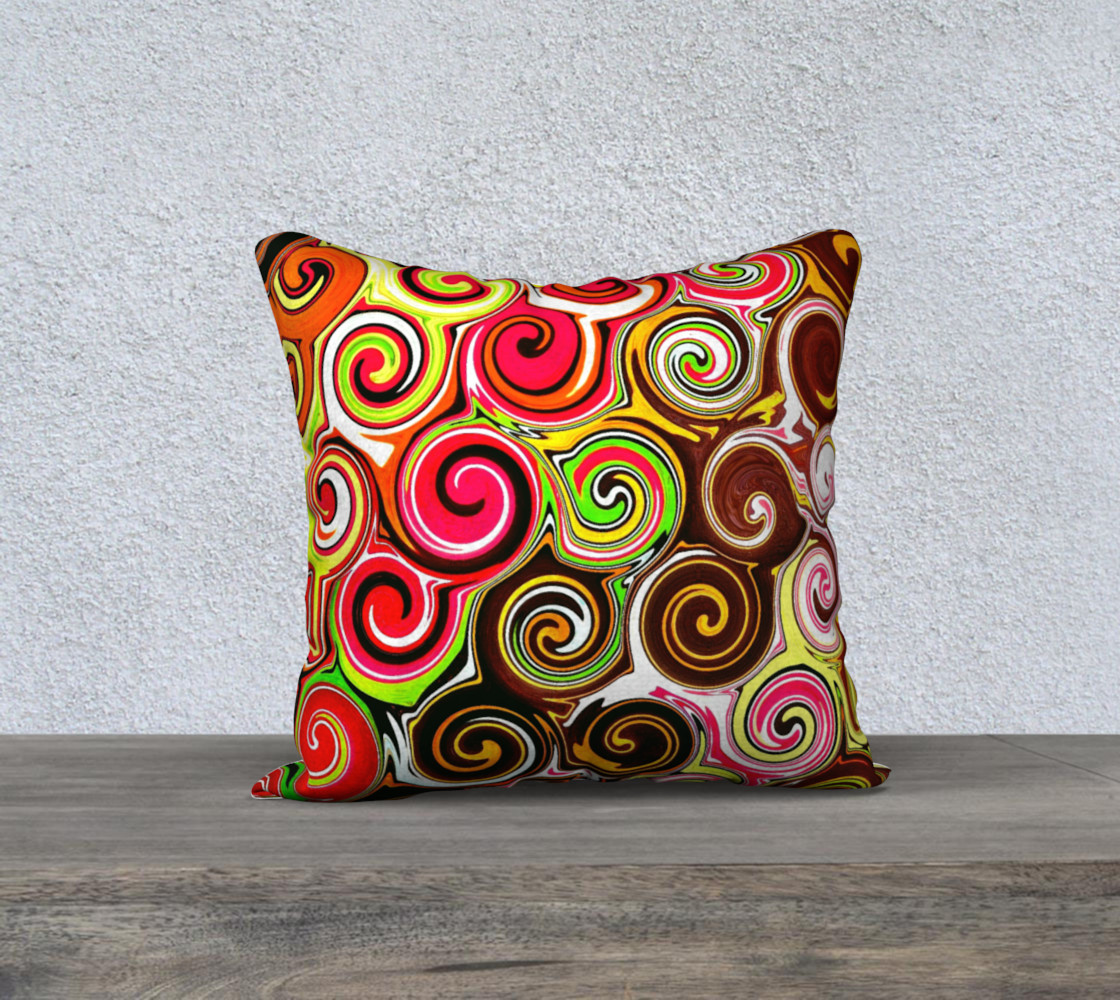 Swirl Me Pretty Square Throw Pillow Cover preview #1