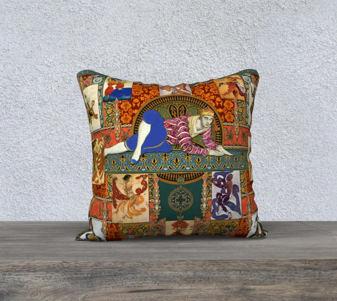 Aperçu de Ballets Russes Tapestry - 18x18 Pillow Case #1