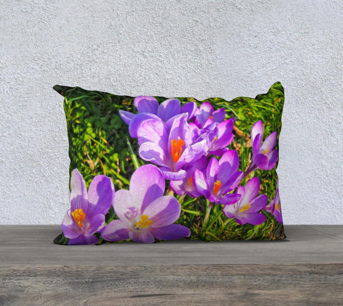 Purple Spring Crocus Pillow Case 20x14 preview #1