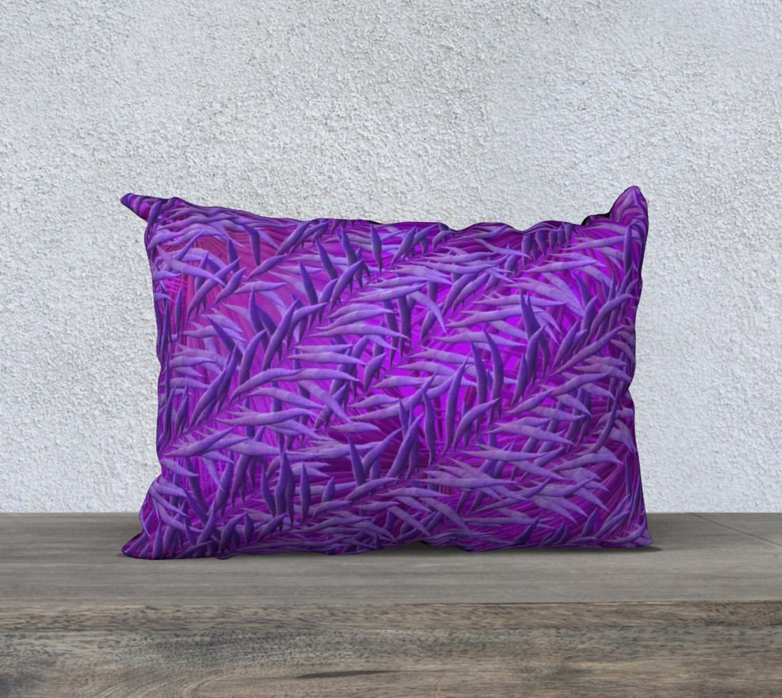 Purple Feathers 20 x 14 Pillow Case preview #1
