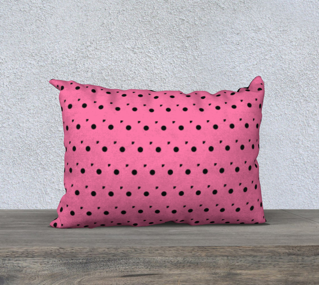 Aperçu de Tracks Bubble Gum 20 x 14 Pillow Case #1