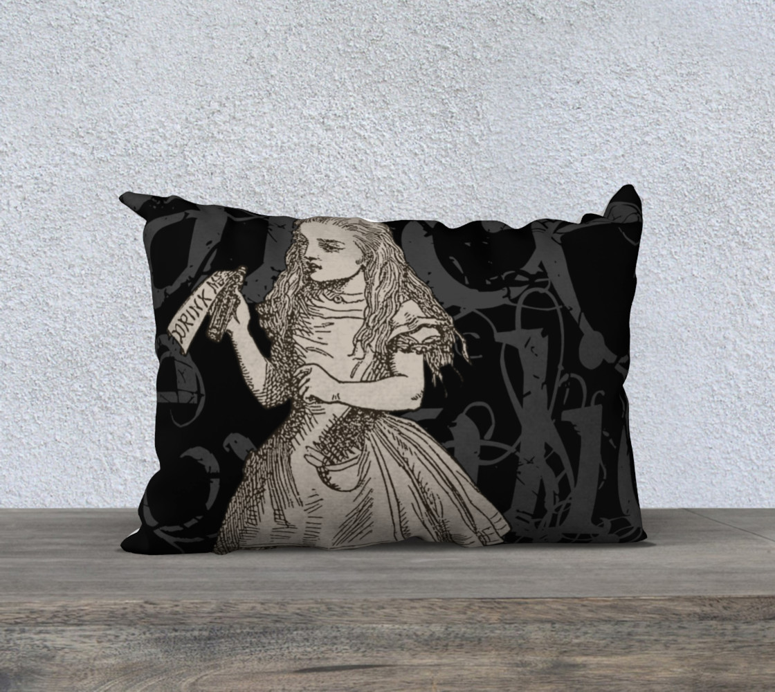 Alice In Wonderland Grunge Alice Pillow (20x14) preview #1