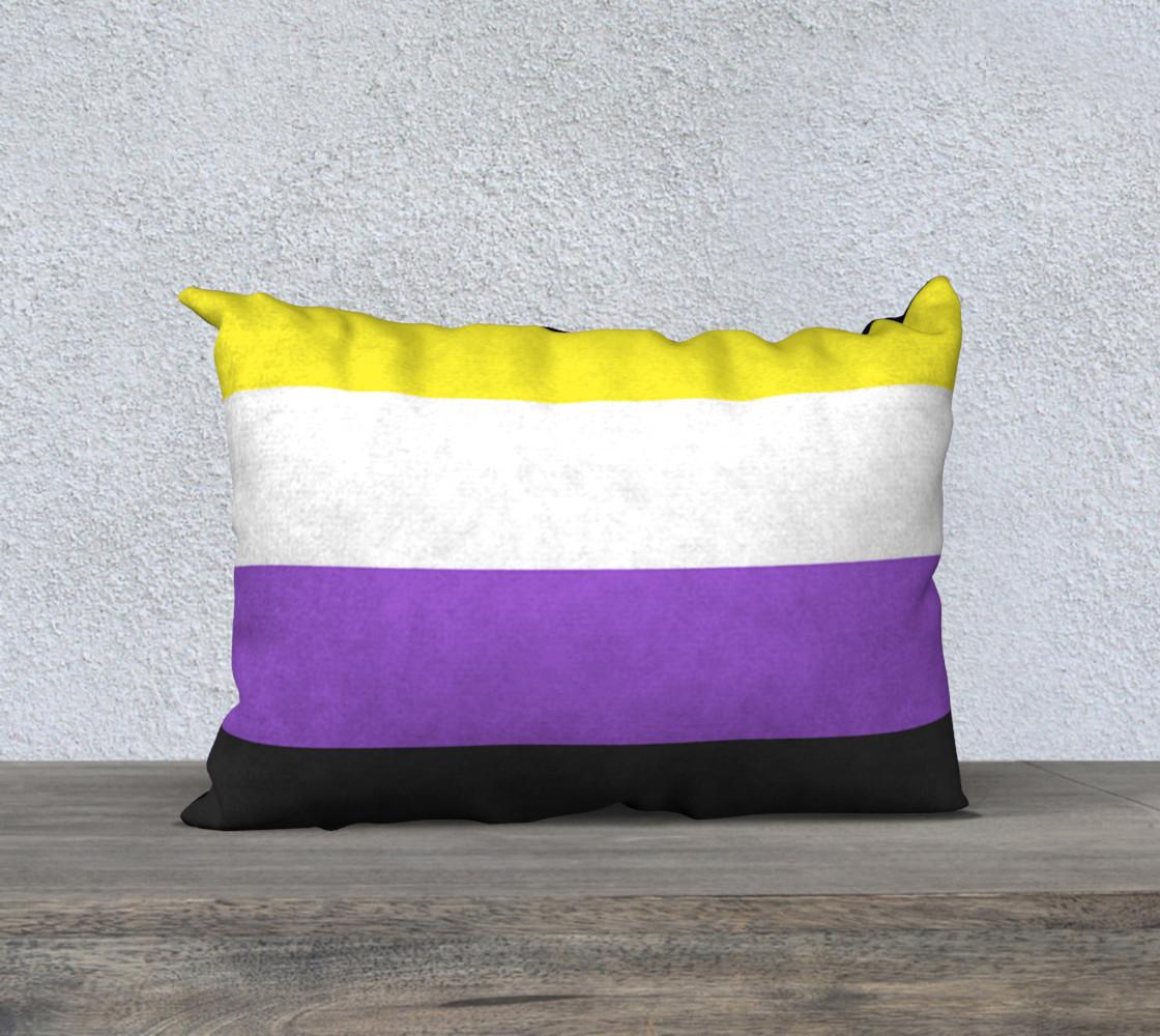 Nonbinary LGBT Pillow Case 20 x 14 preview #1