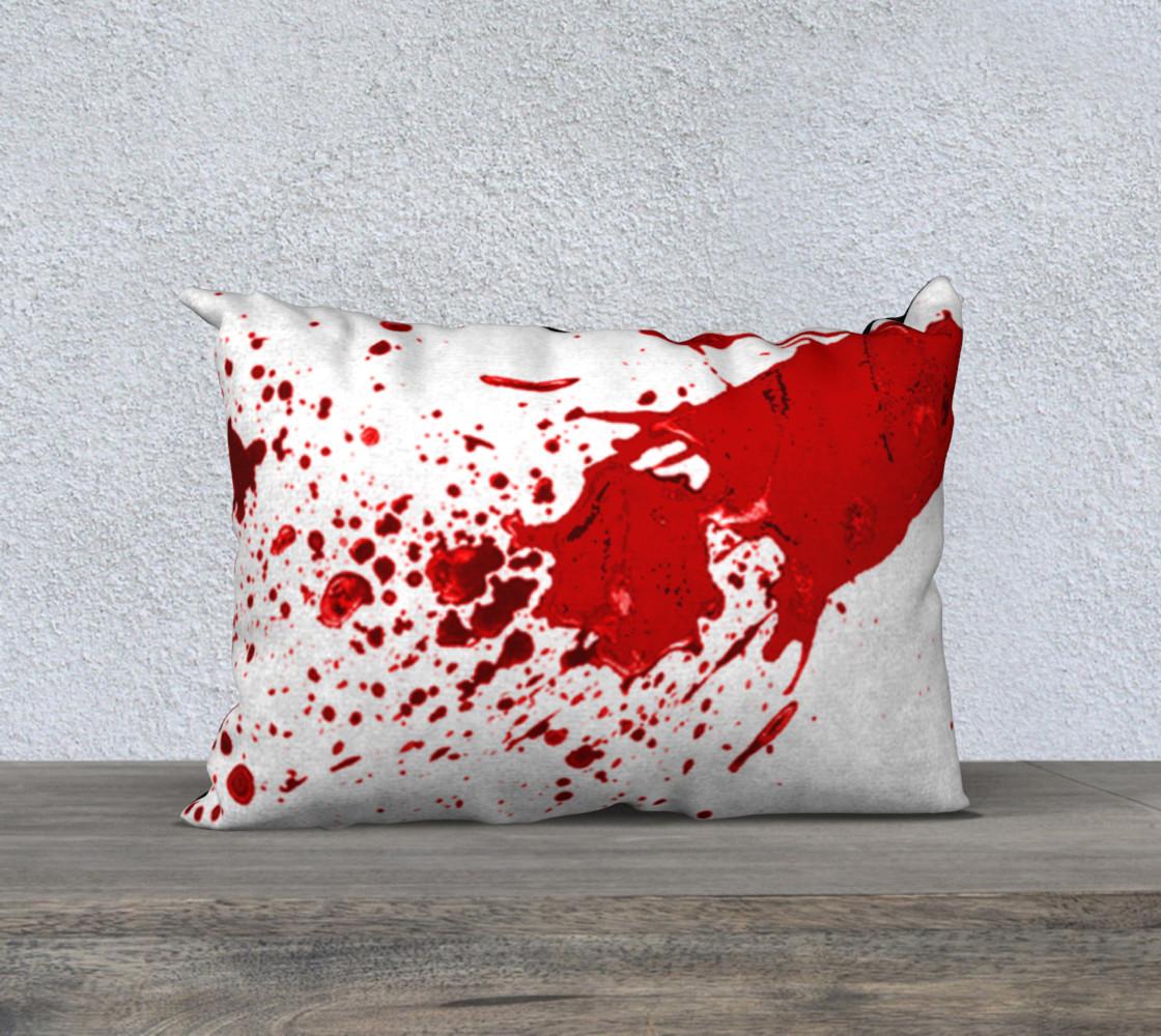 Blood Splatter First Cosplay Halloween Pillow Case 20 x 14 preview #1