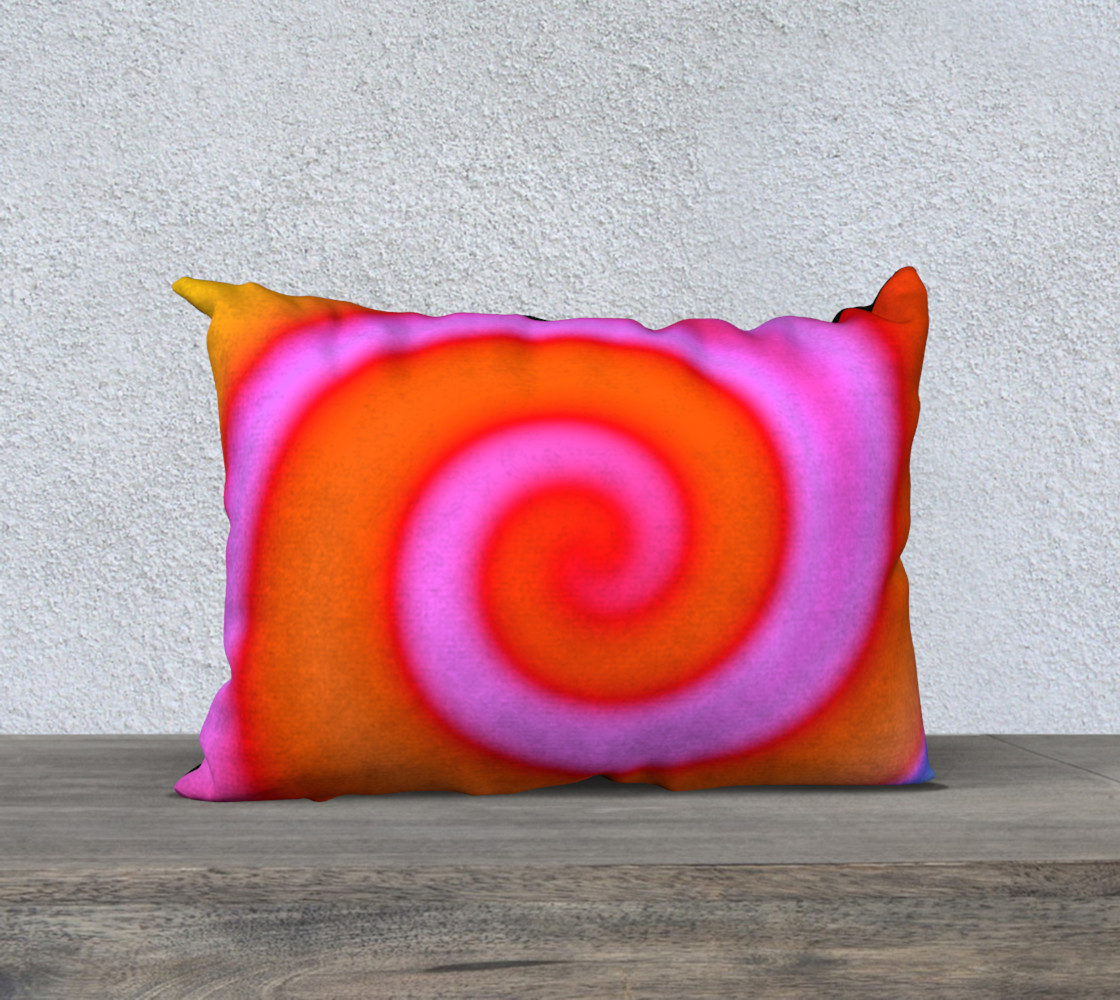 Aperçu 3D de Bright Colorful Orange Pink Swirl Abstract