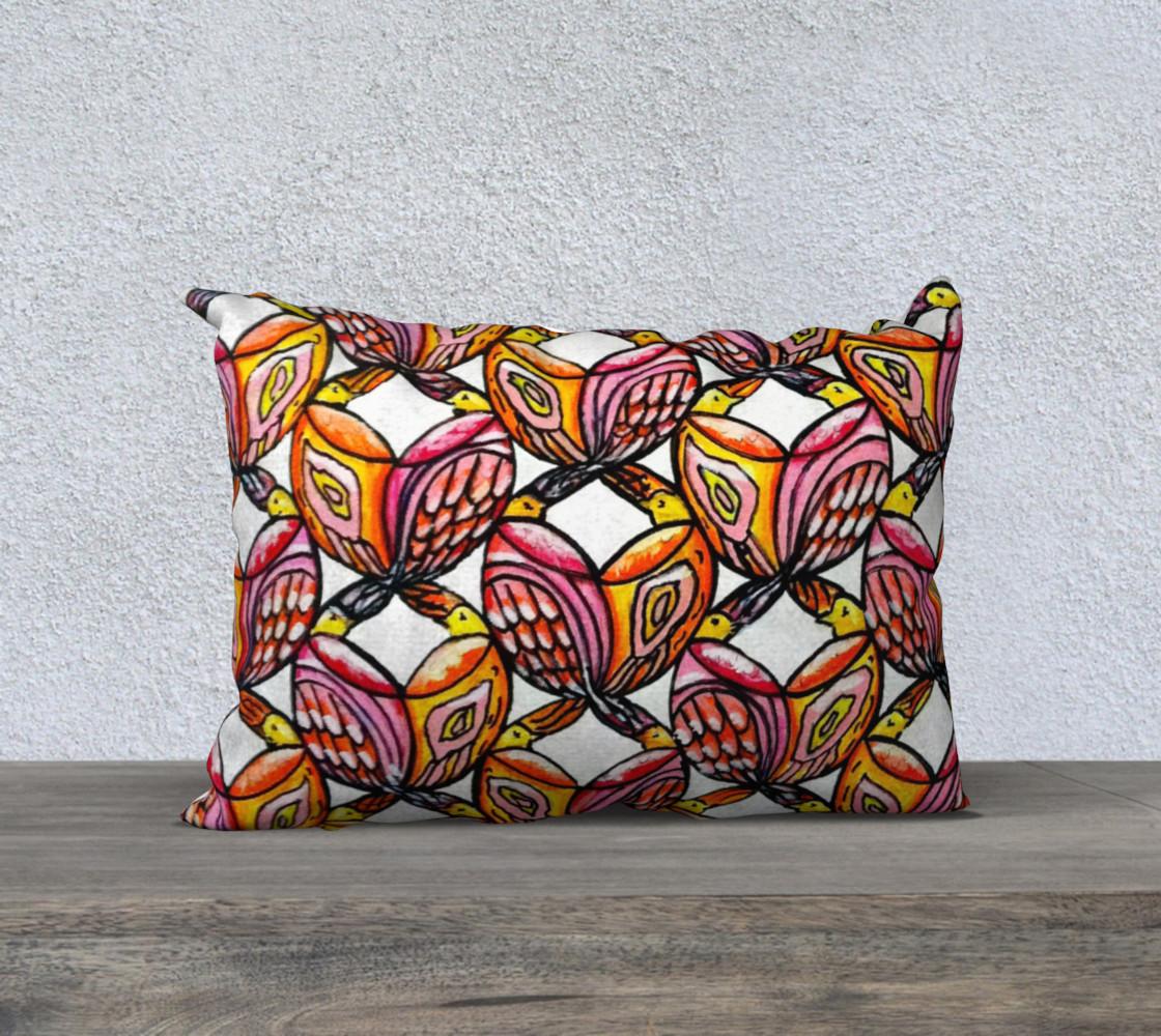 Birds Lumbar Pillow preview #1