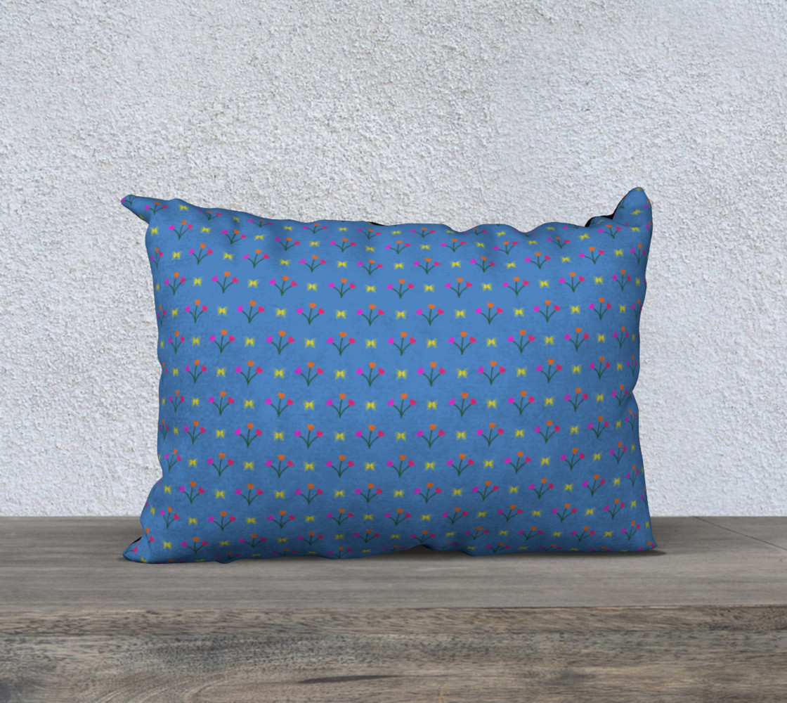 Aperçu de Flower Fields 20x14 Pillow Case #1