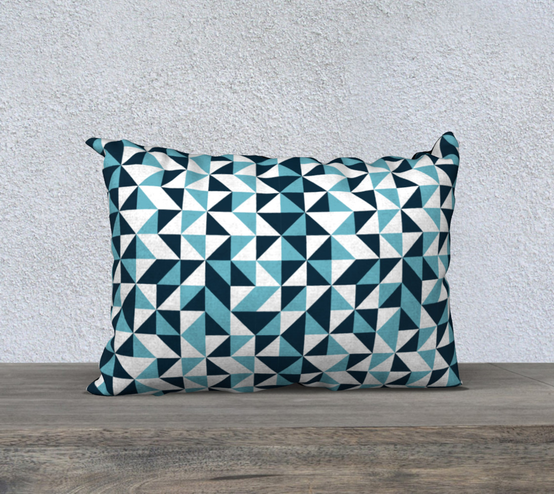 Blue Triangles 20x14 Pillow Case preview #1