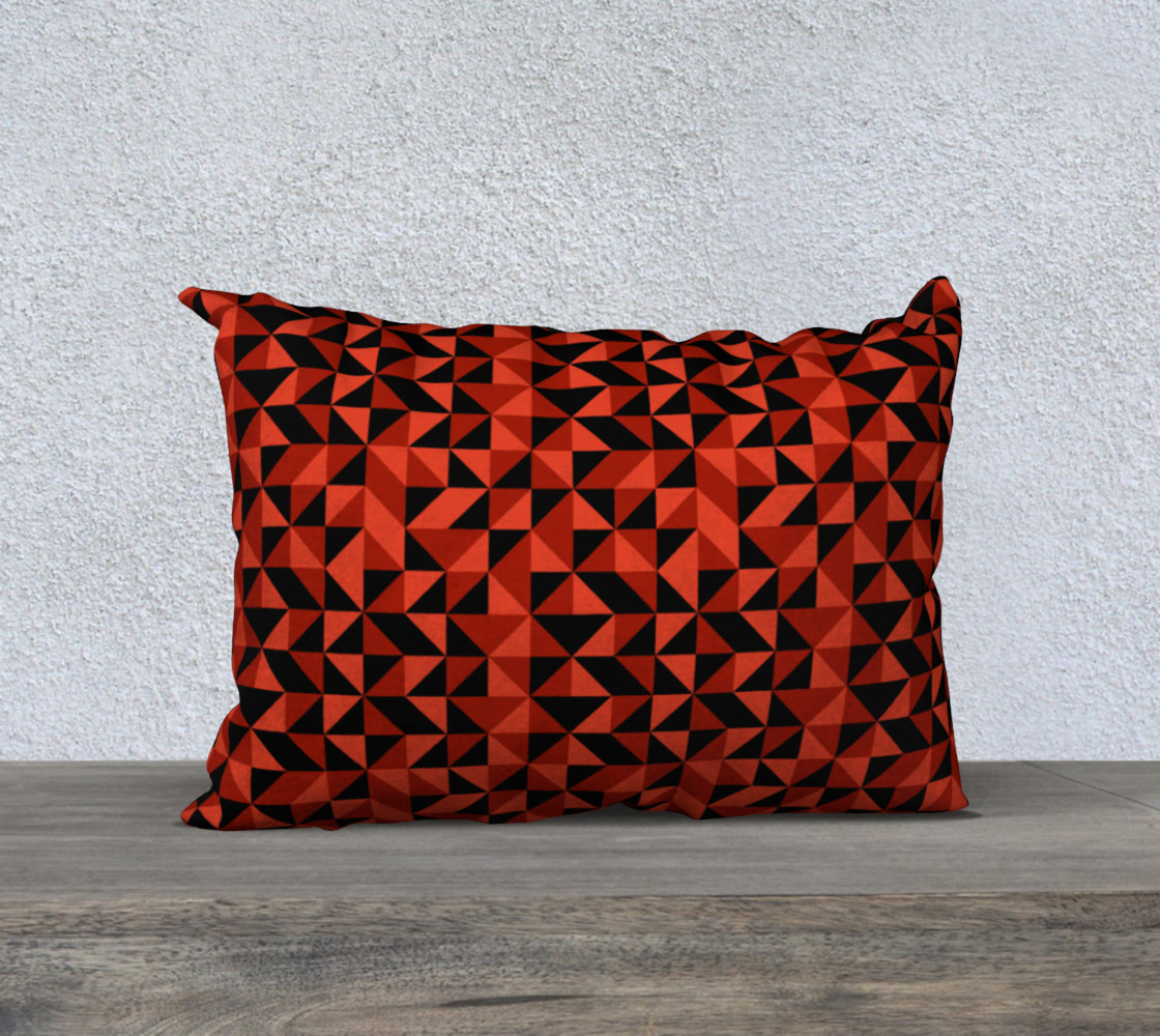 Red Triangles 20x14 Pillow Case preview #1