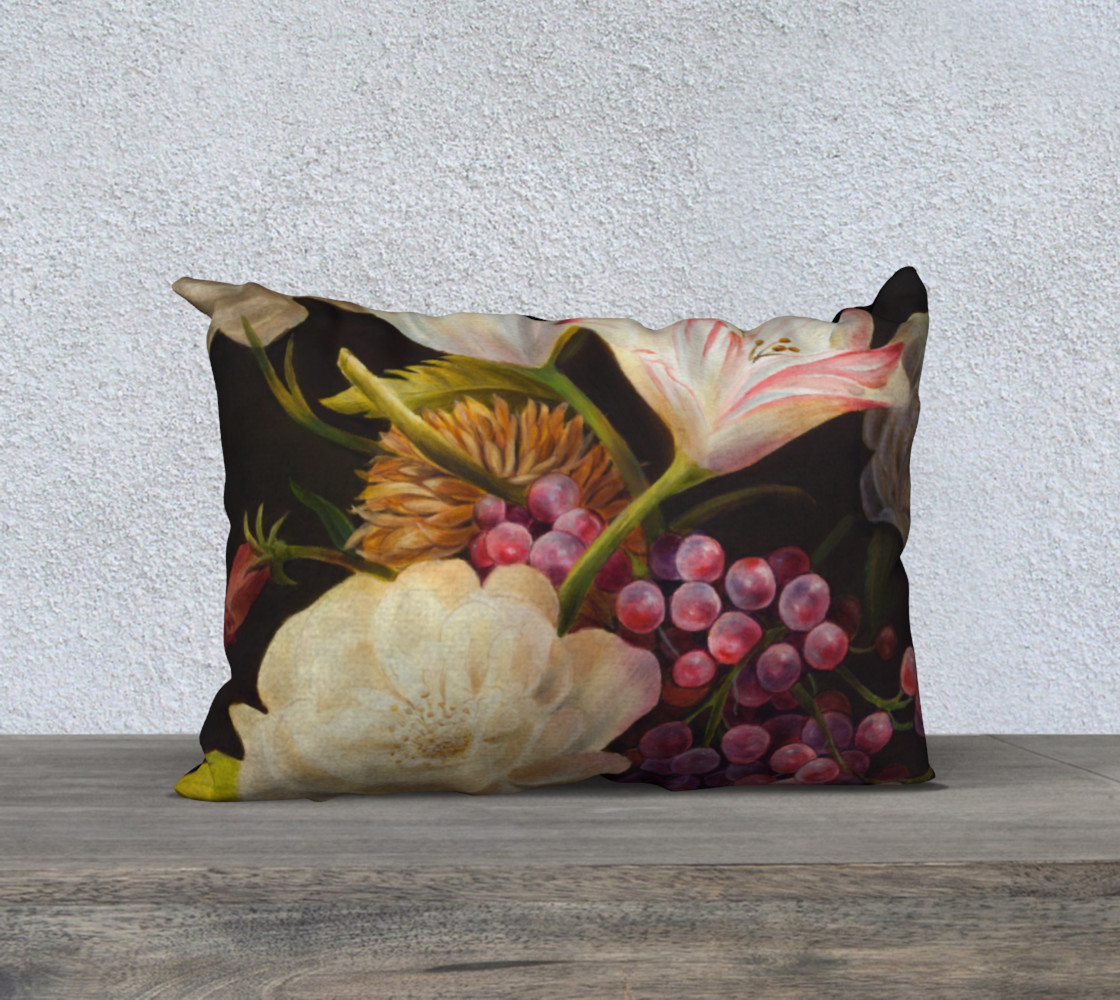 Winter Floral Pillow Case 3D preview