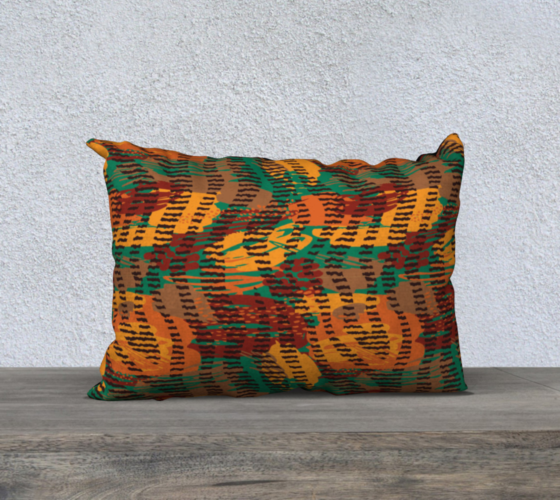 """Abstract Animal Stripes 20"""" x 14"""" Decorative Pillow Case preview #1"""