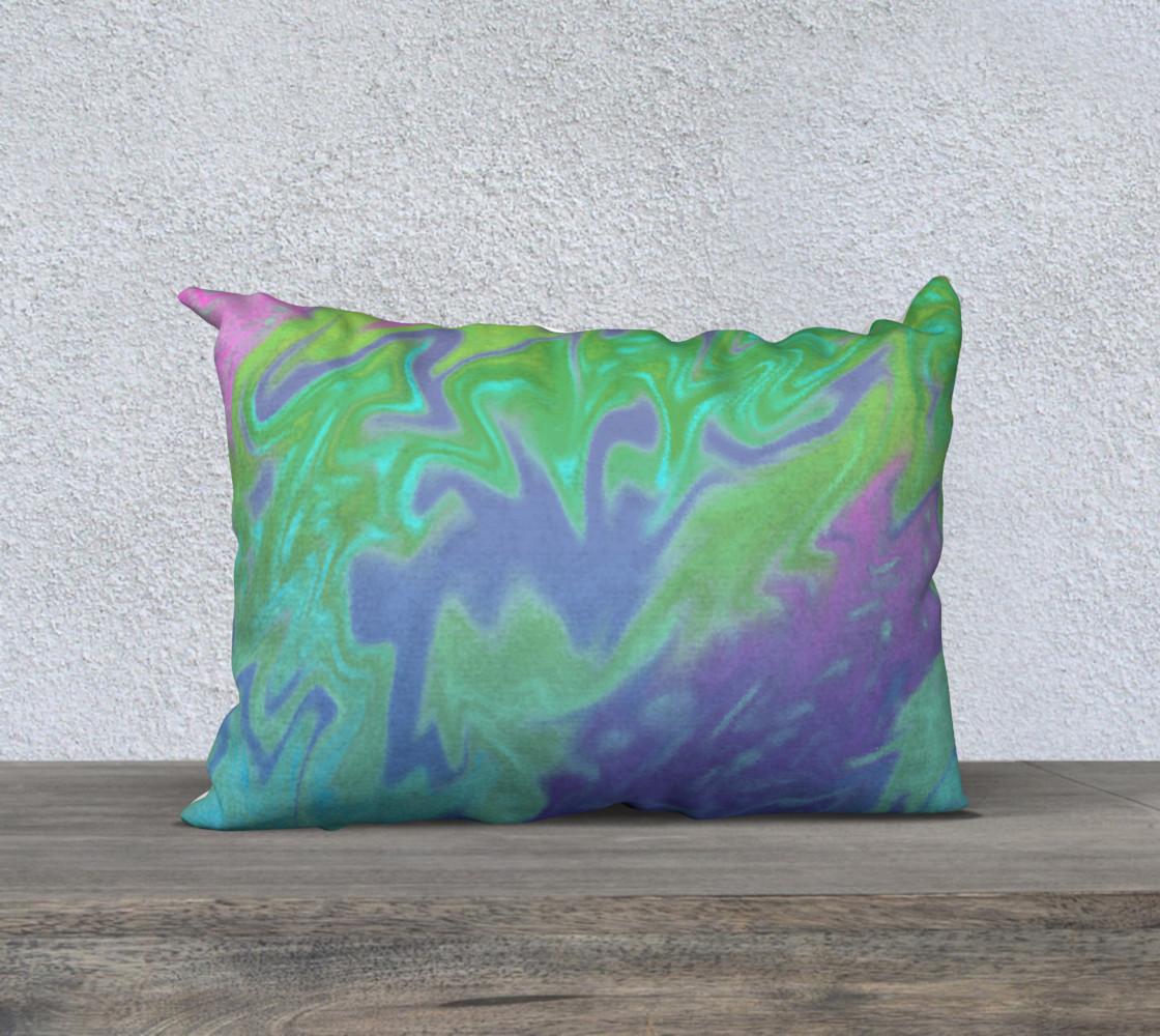 Aperçu de Blue Green Splatter Abstract Design #1