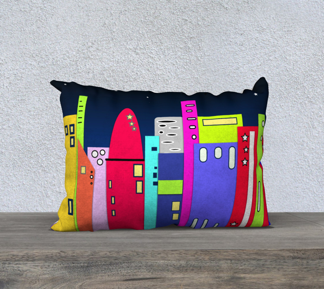 """Space City Pillow 20"""" x 14"""" preview #1"""