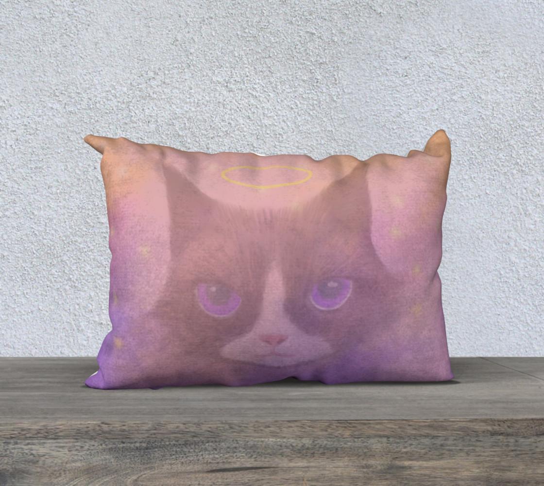 "Cosmic Cat Pillow 20"" x 14"" preview #1"