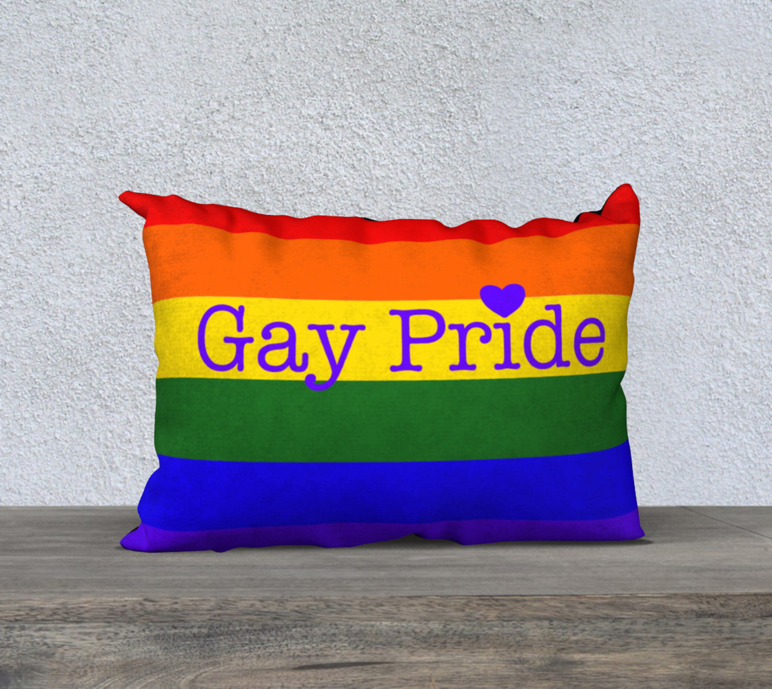 """Gay Pride Love Pillow 20"""" x 14"""" preview #1"""
