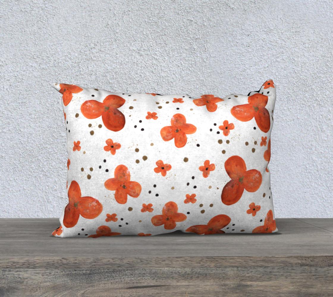 Aperçu de Orange blossoms with dots #1