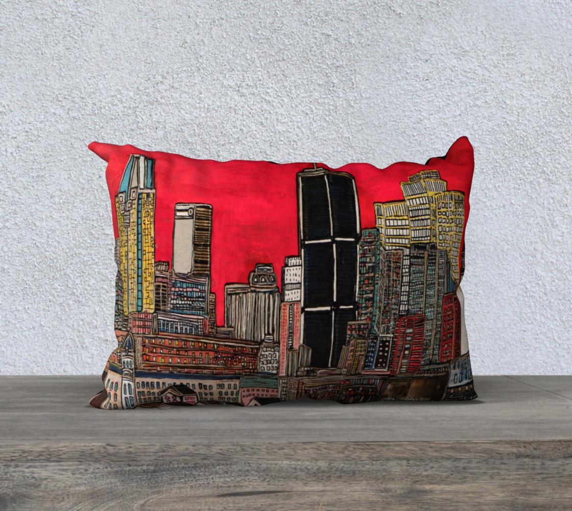 Aperçu de Housse de Coussin - Pillow Case MTL sous le rouge Montreal #1