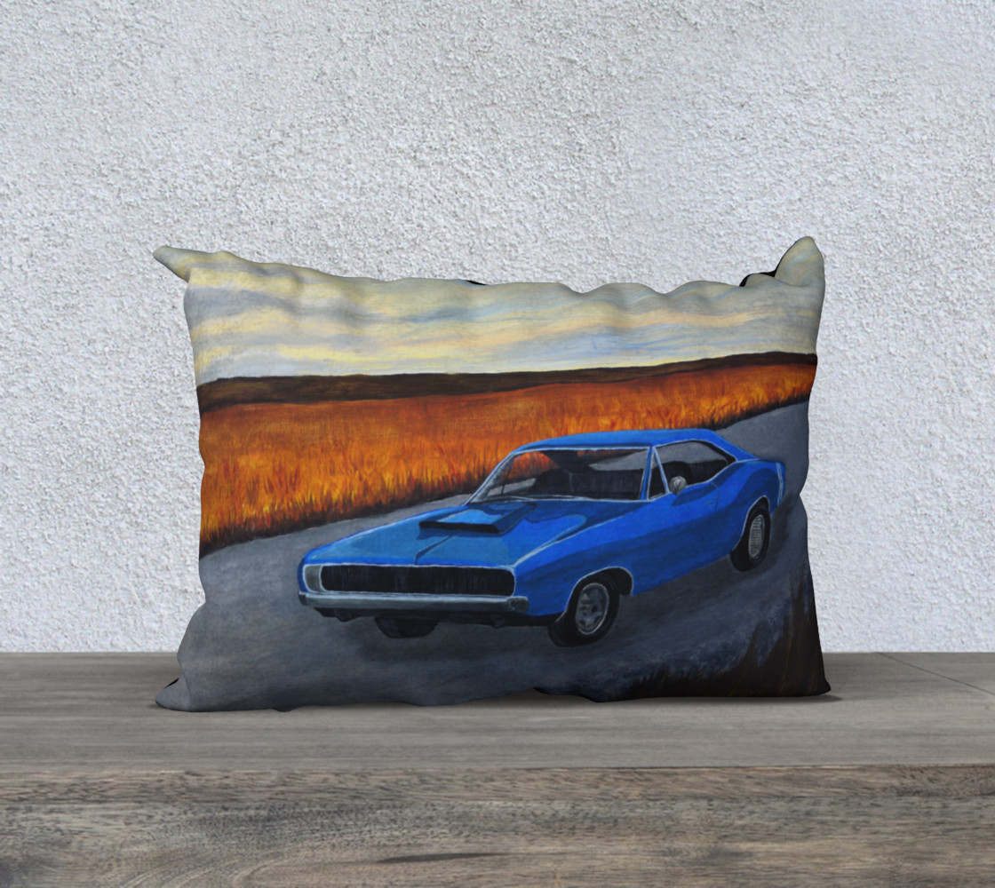 Aperçu de Dodge Charger Pillow Case #1
