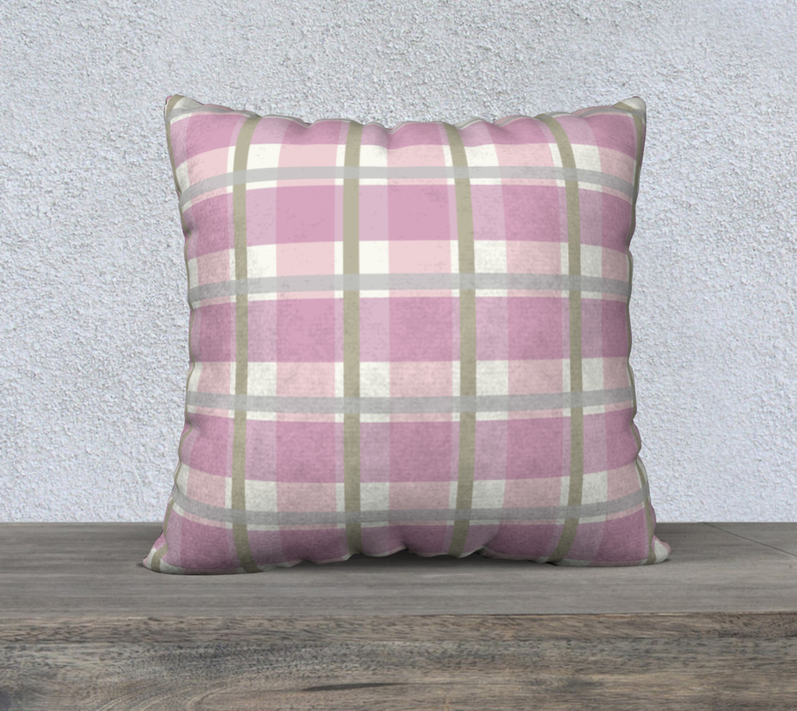 Pink Plaid Chalk and Fusion paint Match preview #1