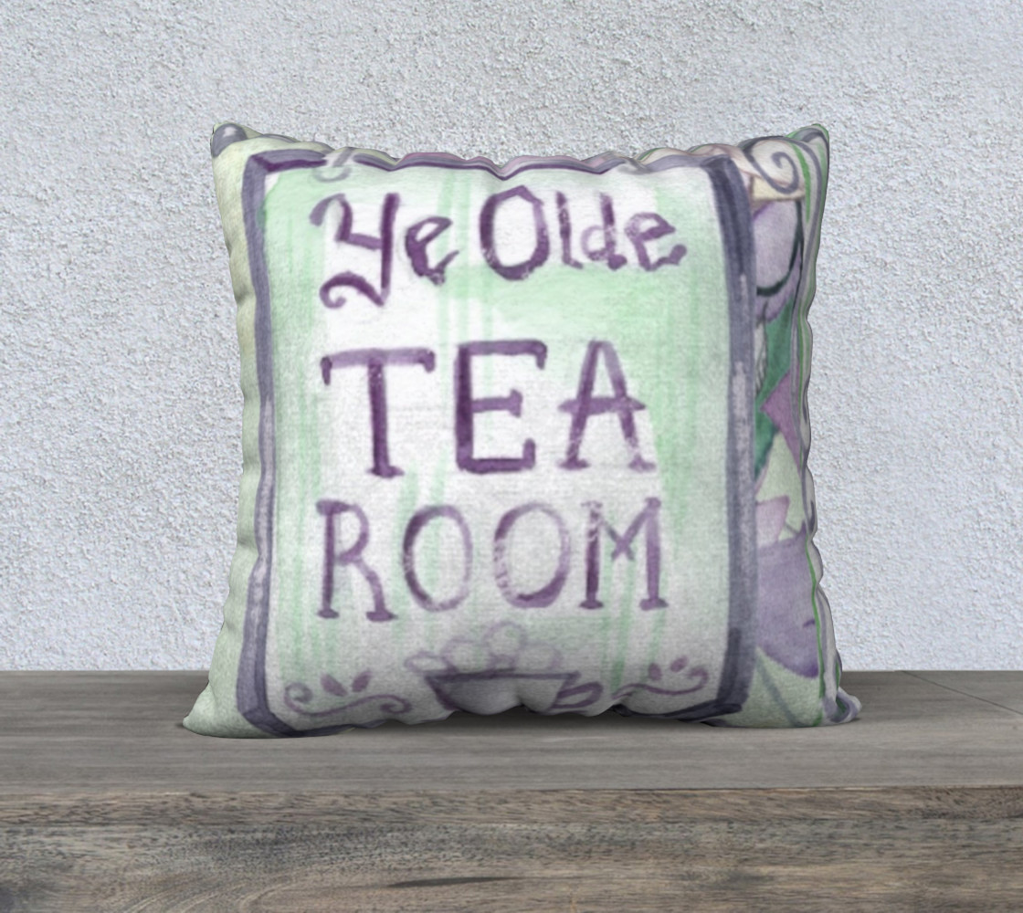 Ye Olde Tea Room  22 x 22 Pillow Case preview #1