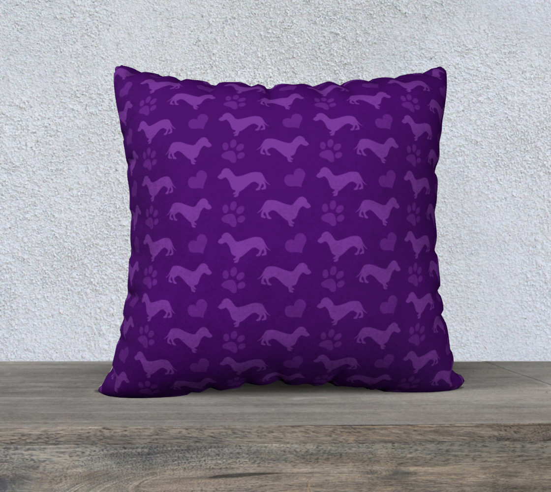 Purple dachshunds hearts paws preview #1