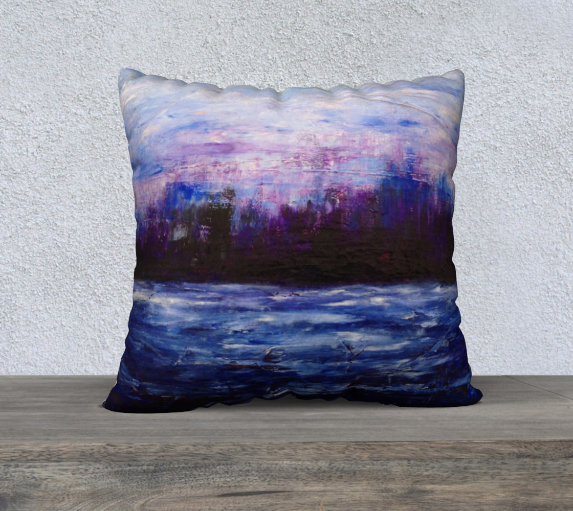 Purple Landscape Pillow preview #1