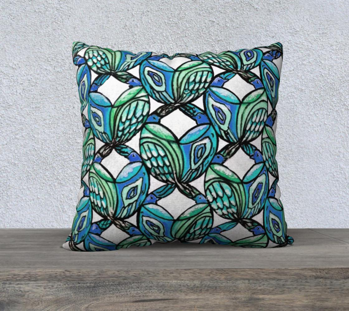 Blue Birds Pillow preview #1