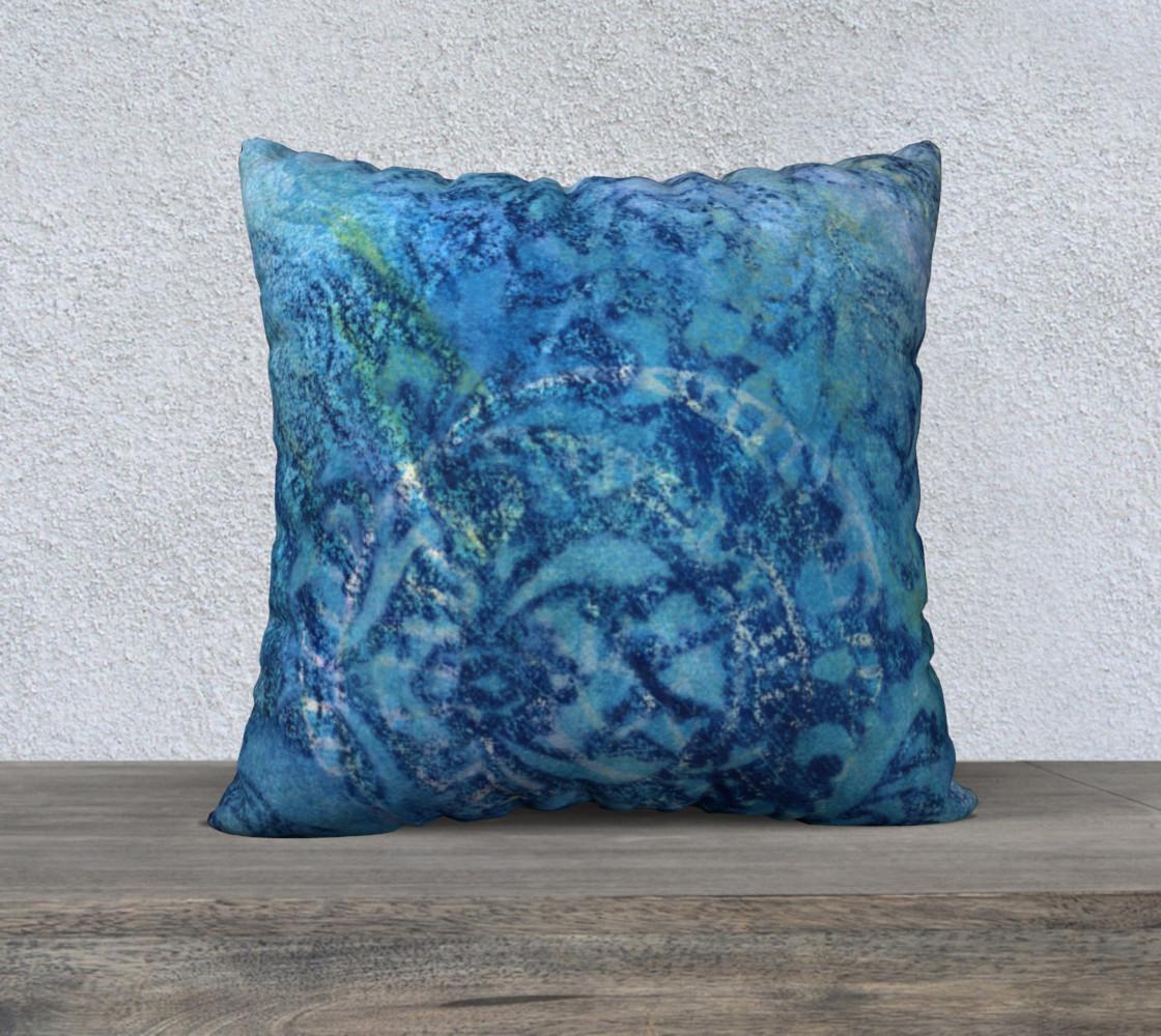 Aperçu de Gathering Blue Pillow Case 22sq #1