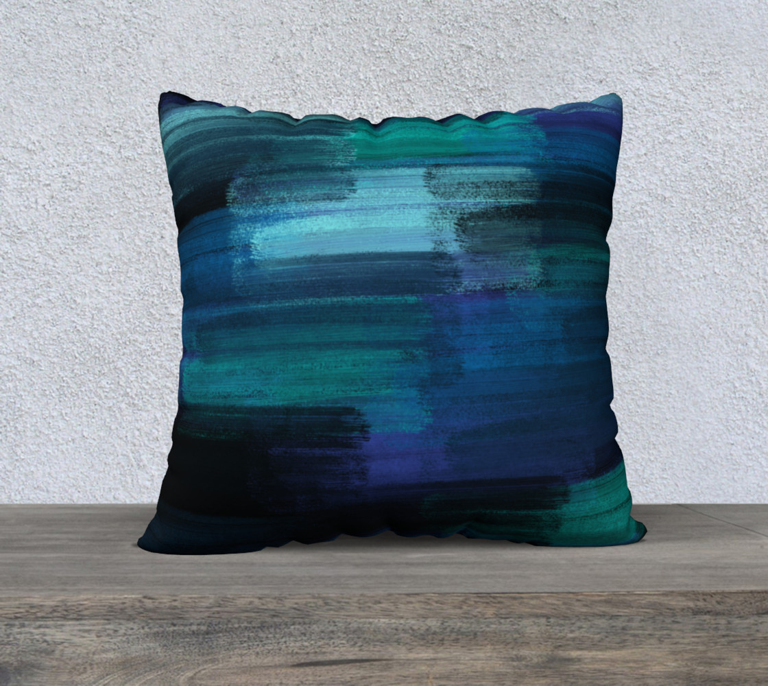 Midnight Ocean 22x22 Pillow Case preview #1