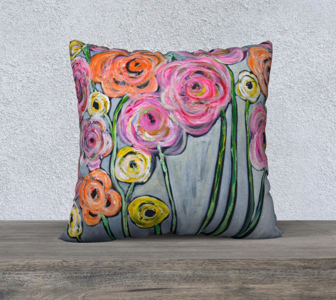 Aperçu de bloom where you are planted pillow 22 #1