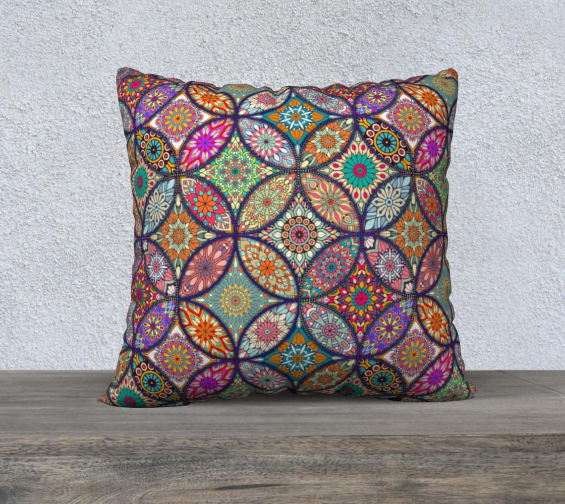 """Vibrant Mandalas 22"""" x 22"""" Decorative Pillow Case preview #1"""