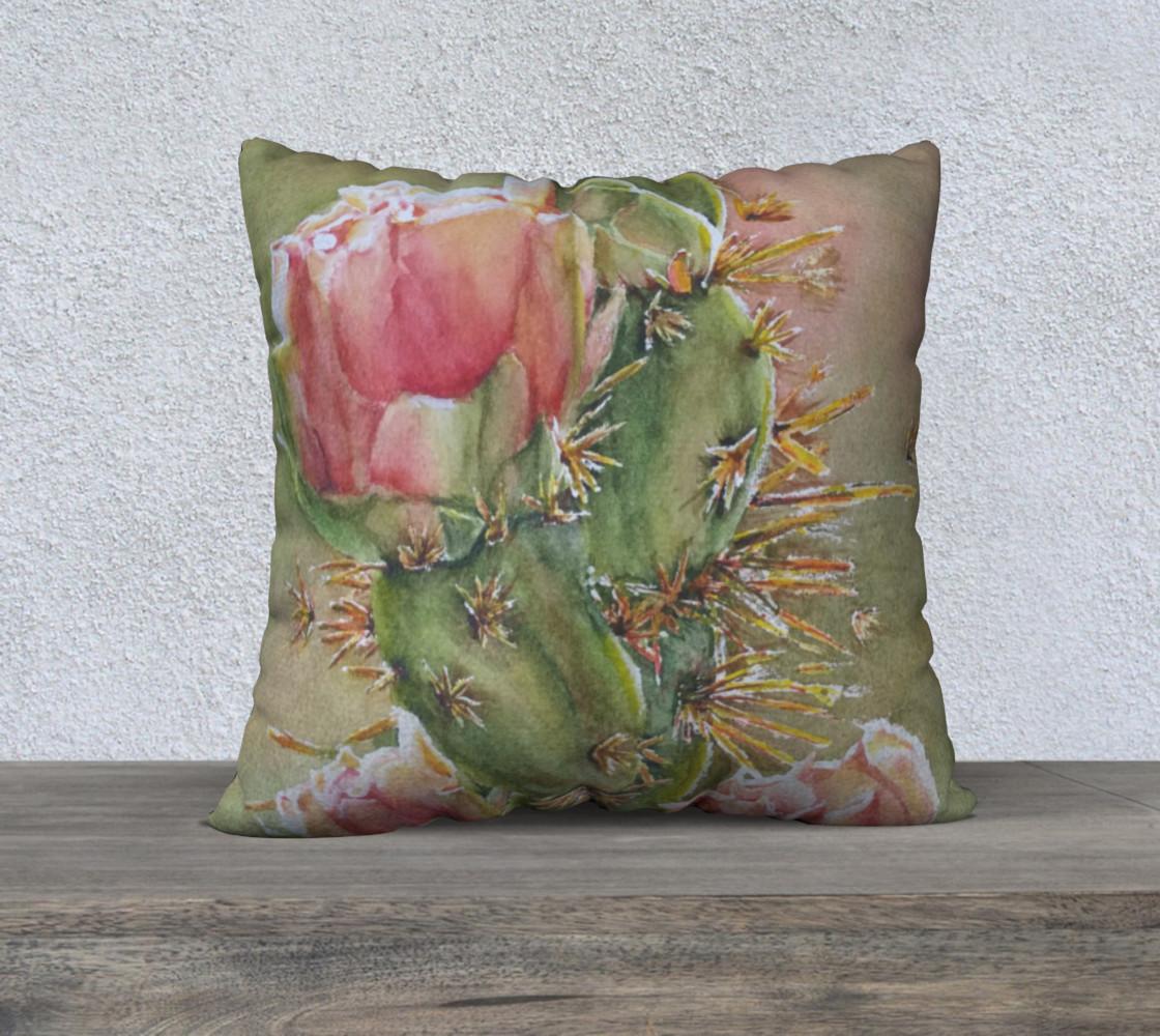 Pink Peach Cactus Pillow Case preview #1