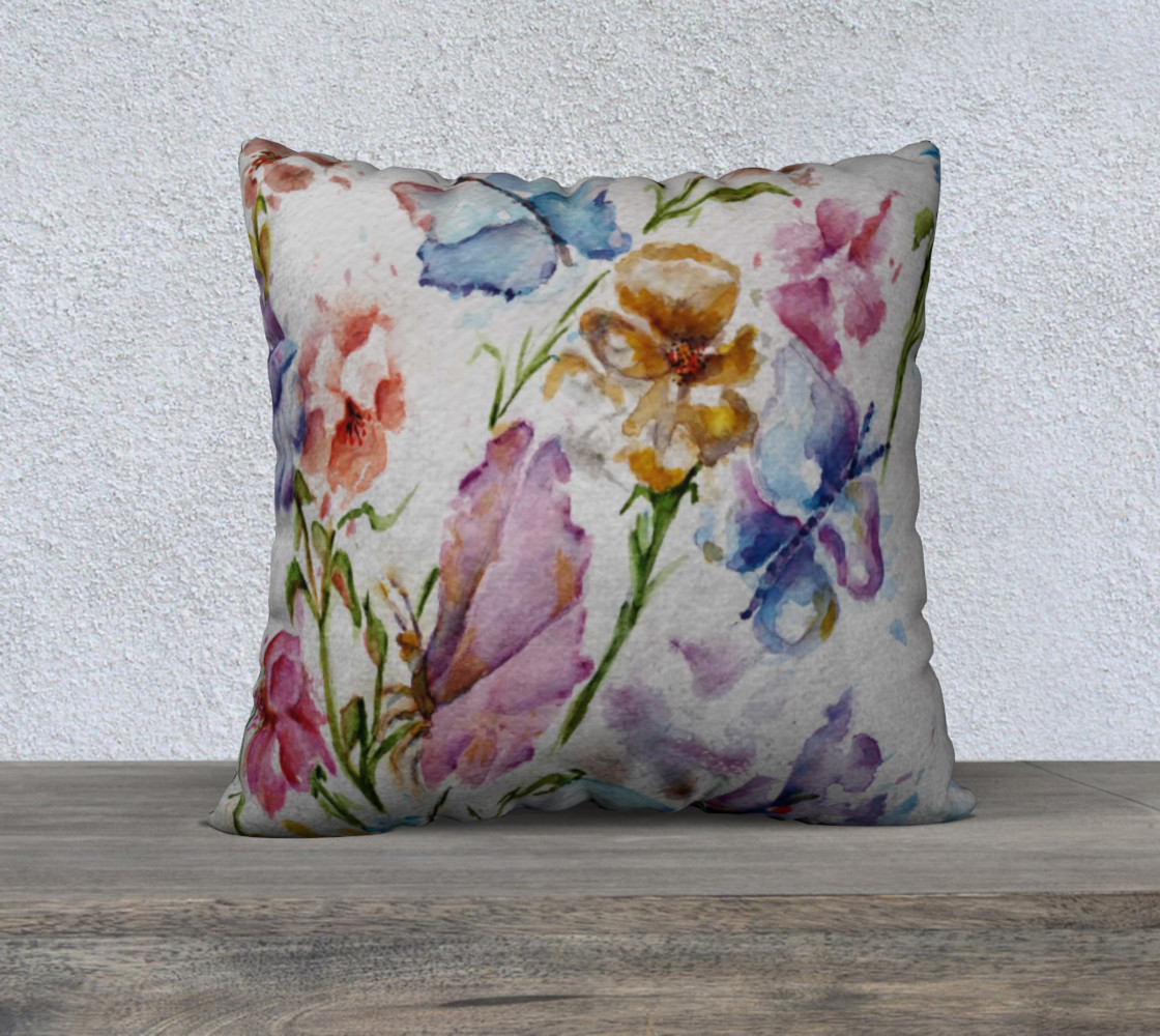 Whimsical Floral Pillow Case preview #1
