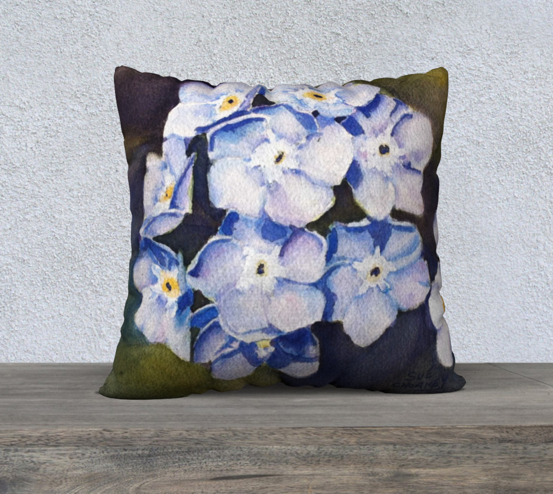 Forget-me-nots Pillow Case preview #1