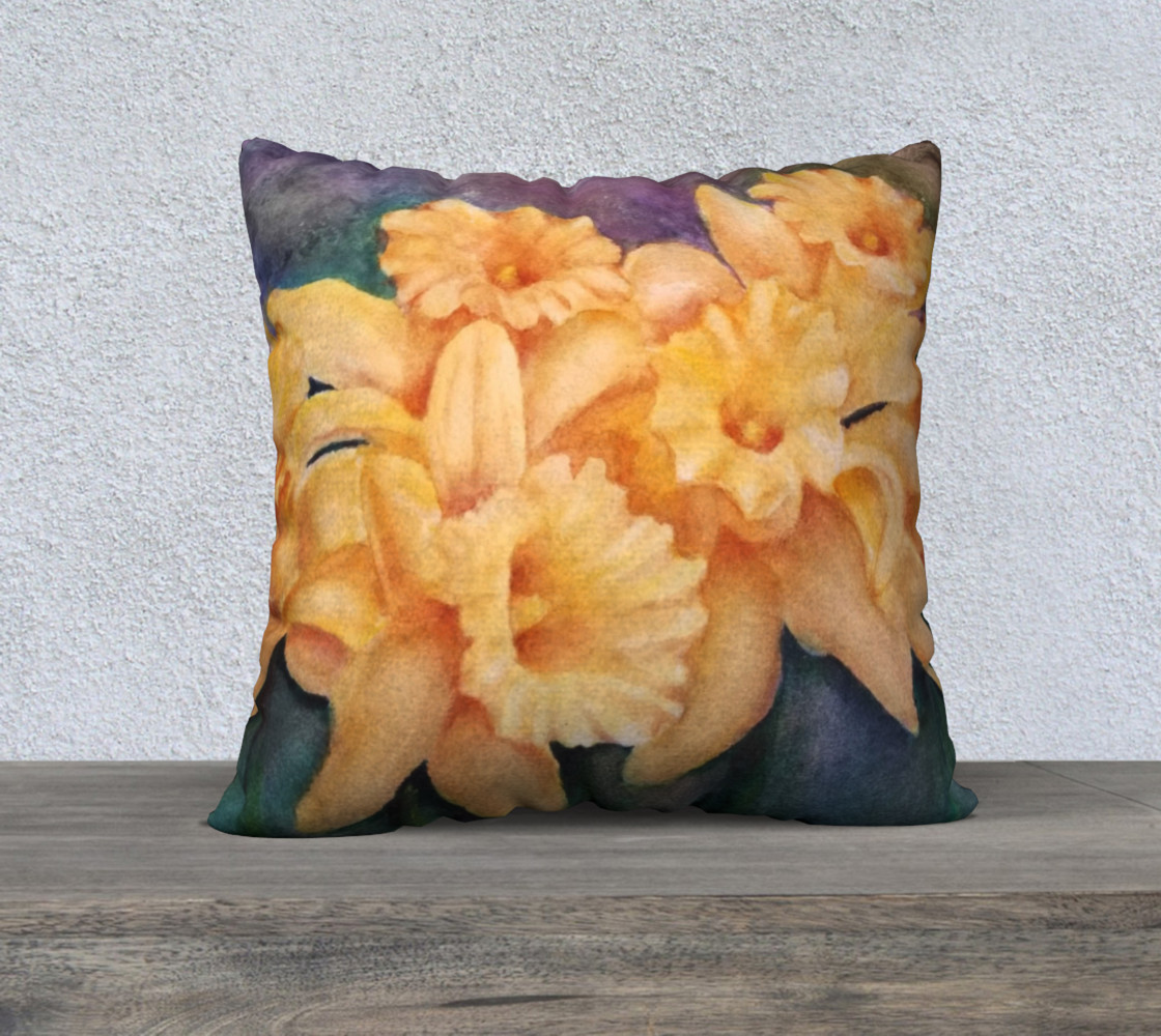 Yellow Daffodils Pillow Case preview #1