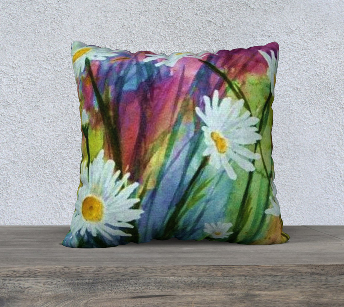 Daisy Party Pillow Case preview #1