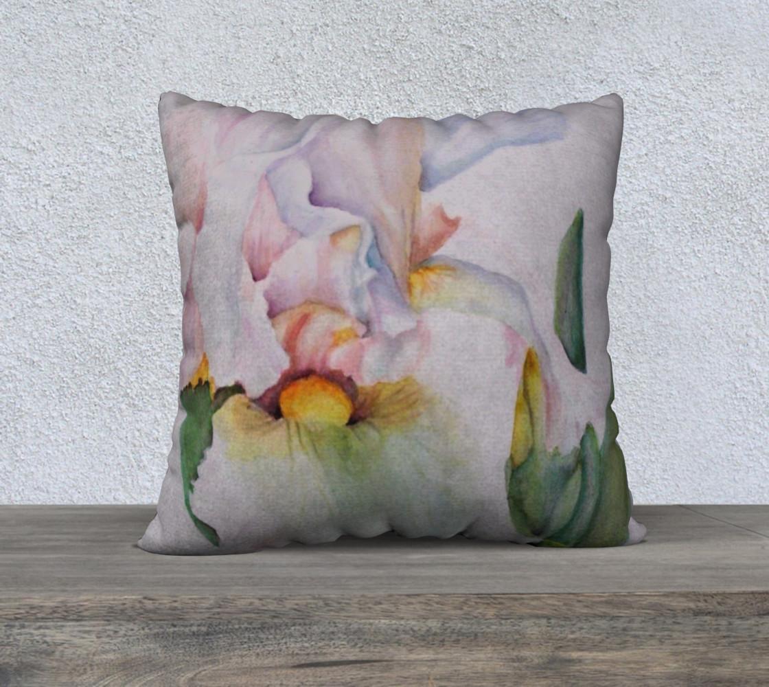 Beautiful White Iris Pillow Case preview #1