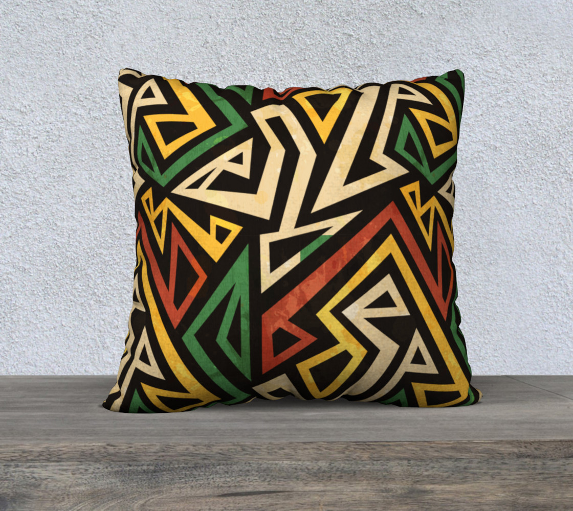 African geometric pillow (print by Gudinny) preview #1
