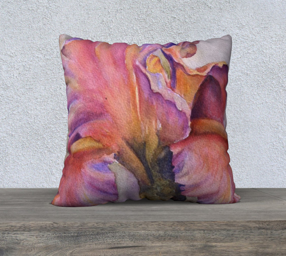 Pink Iris Pillow Case thumbnail #2
